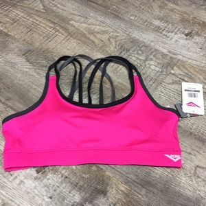 Pony hot pink ports bra padded nwt